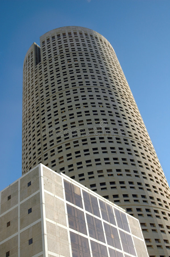 Downtown Tampa, Round Building royalty free stock photos