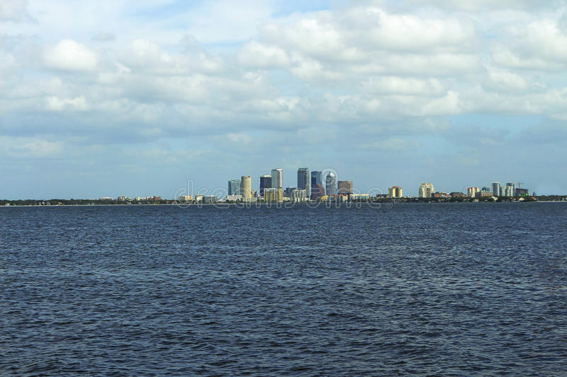 Downtown Tampa. Seen from Ballast Point Park stock photo