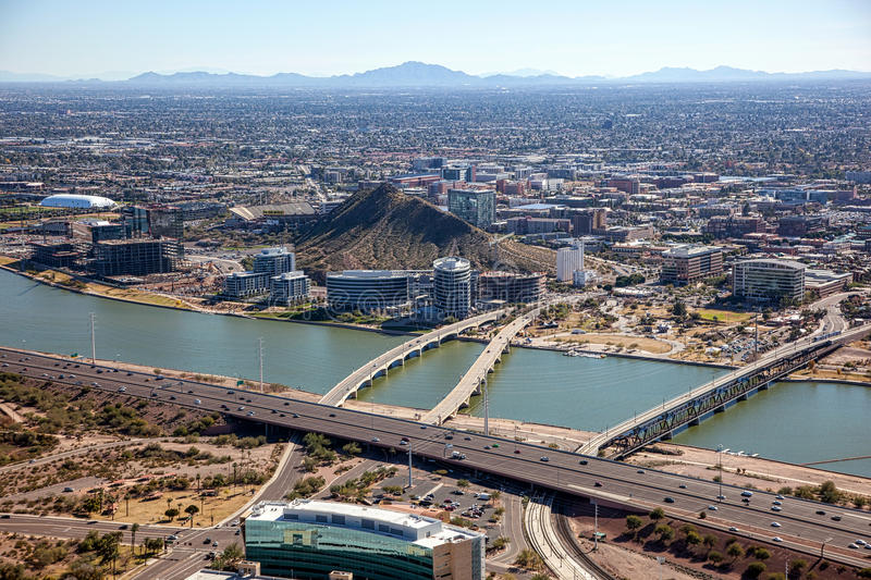 Downtown Tempe Stock Image Image Of Rooftops Campus