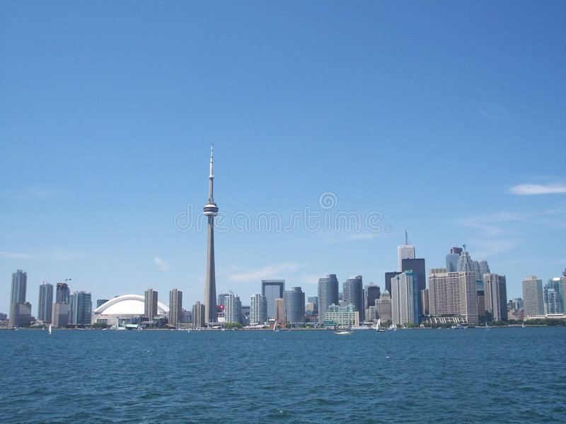 Download Downtown Toronto stock image. Image of town, scrapers, tower - 328377