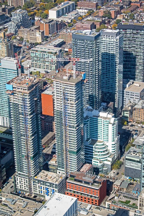 Downtown Toronto Condos From Above royalty free stock photo