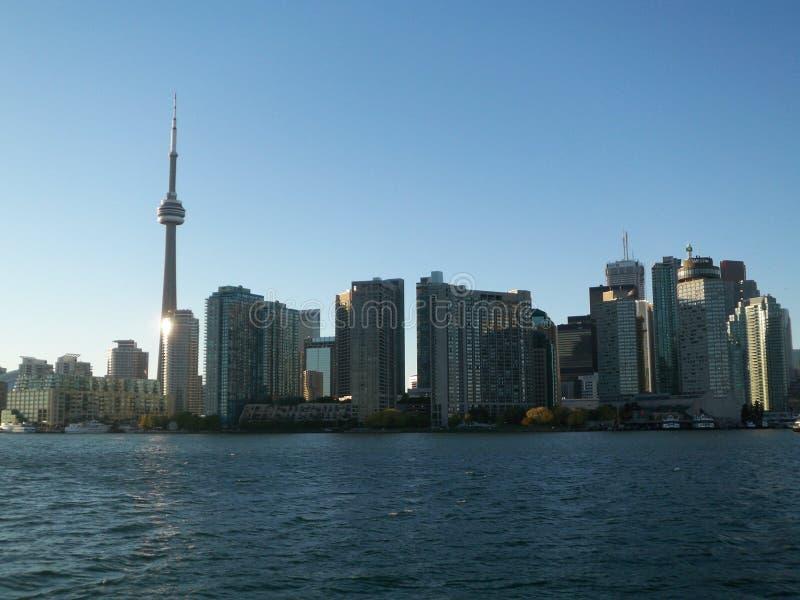 Downtown Toronto Ontario Canada skyline view from Lake Ontario stock images