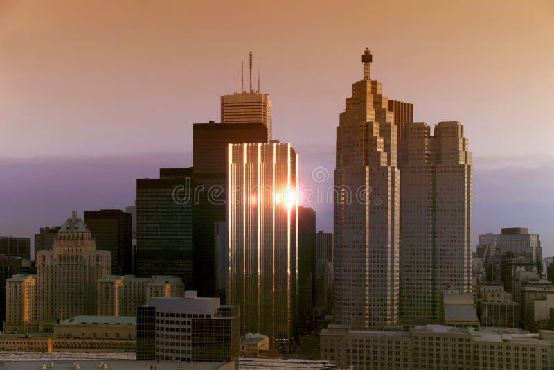 Downtown Toronto Sunrise - Canada stock image