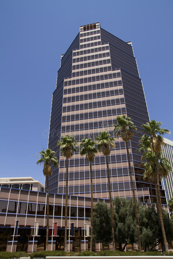 Downtown Tucson Arizona. Tall commercial building in downtown Tucson, Arizona royalty free stock photos