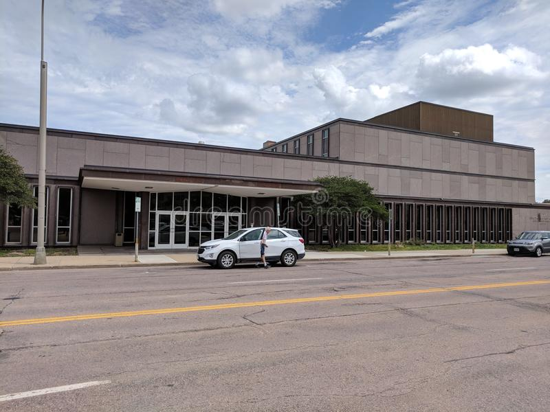Downtown US Postal Office. The U.S. Postal Service in downtown Sioux Falls, South Dakota stock photography