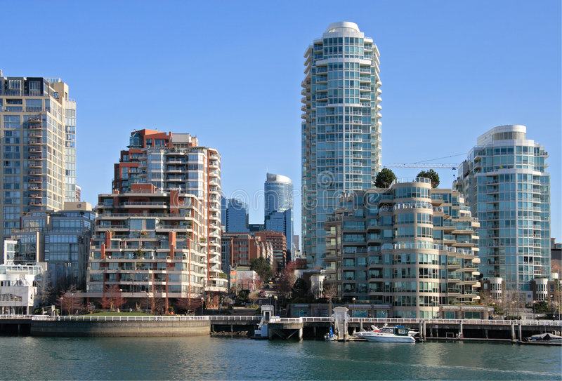 Downtown of Vancouver royalty free stock images