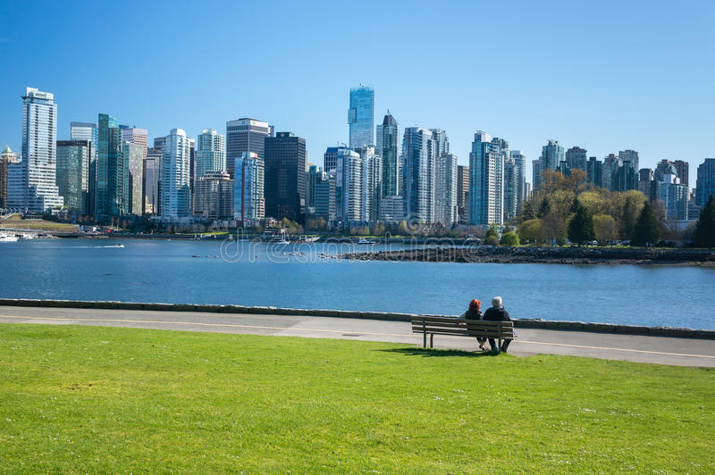 Downtown Vancouver royalty free stock photo