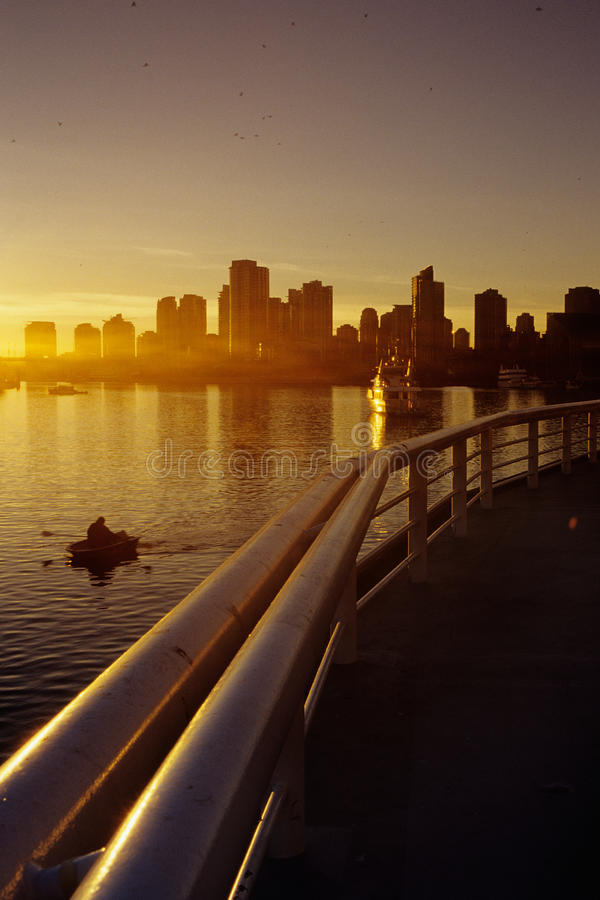 Downtown Vancouver sunset- Canada stock photo