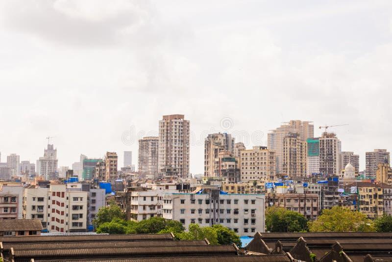 Downtown view of India`s economic city Mumbai from top of a building. Mumbai is metro busiest city in India. Downtown view of India`s economic city Mumbai from stock image