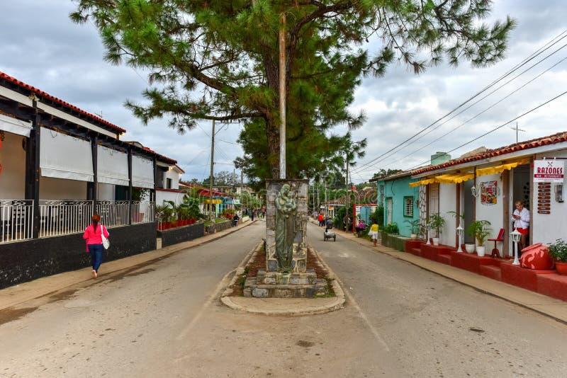 Downtown Vinales, Cuba stock photography
