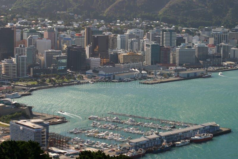Downtown. Wellington, New Zealand royalty free stock image