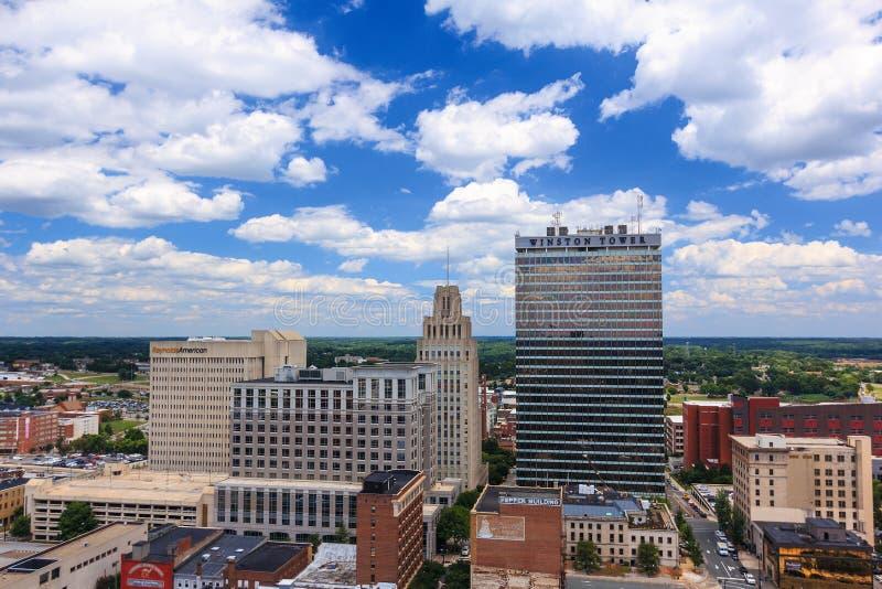 Downtown Winston-Salem, Carolina do Norte fotos de stock royalty free