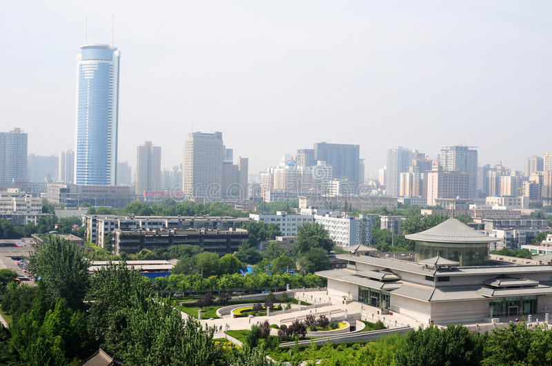 Downtown of Xian China stock images