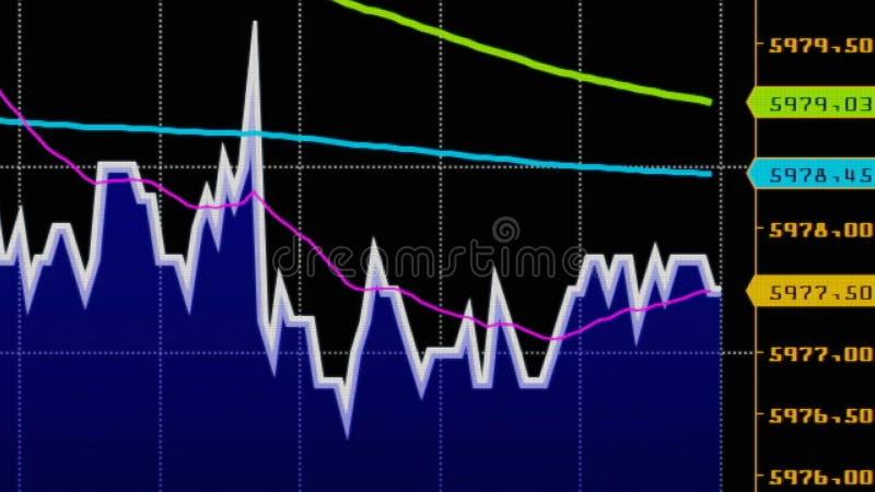 downtrend diminution financière, dépression, échec, crise économique illustration stock