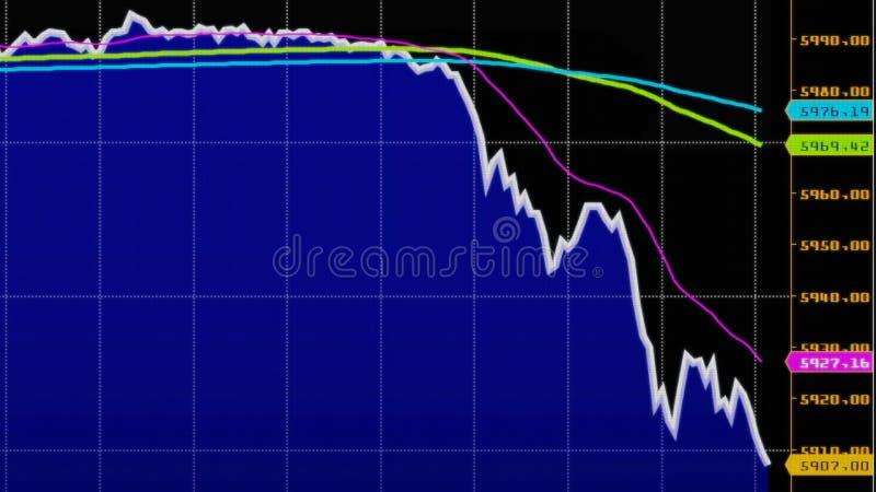 downtrend Financier, échec, crise économique Chute courante de diagramme illustration libre de droits