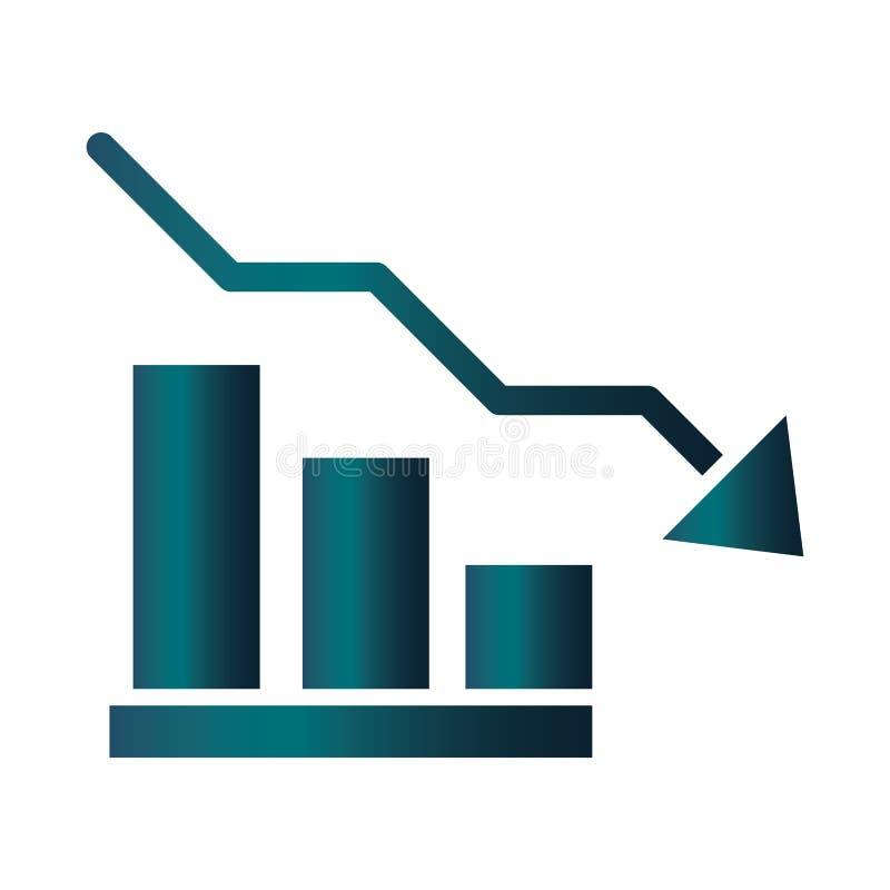 Free Downward Arrow Chart Trade Crisis Economy, Oil Price Crash Gradient Style Icon Royalty Free Stock Photos - 178359838