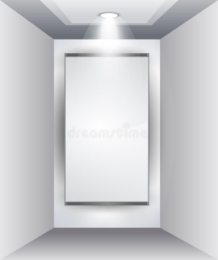 dowodzeni panelu produktu sala wystawowej światło reflektorów ilustracji