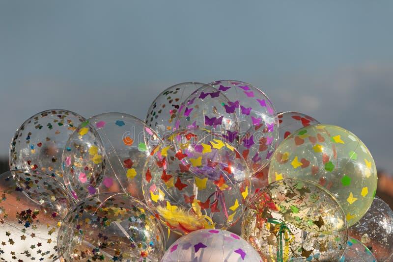 DOWODZENI przejrzyści balony zdjęcia royalty free