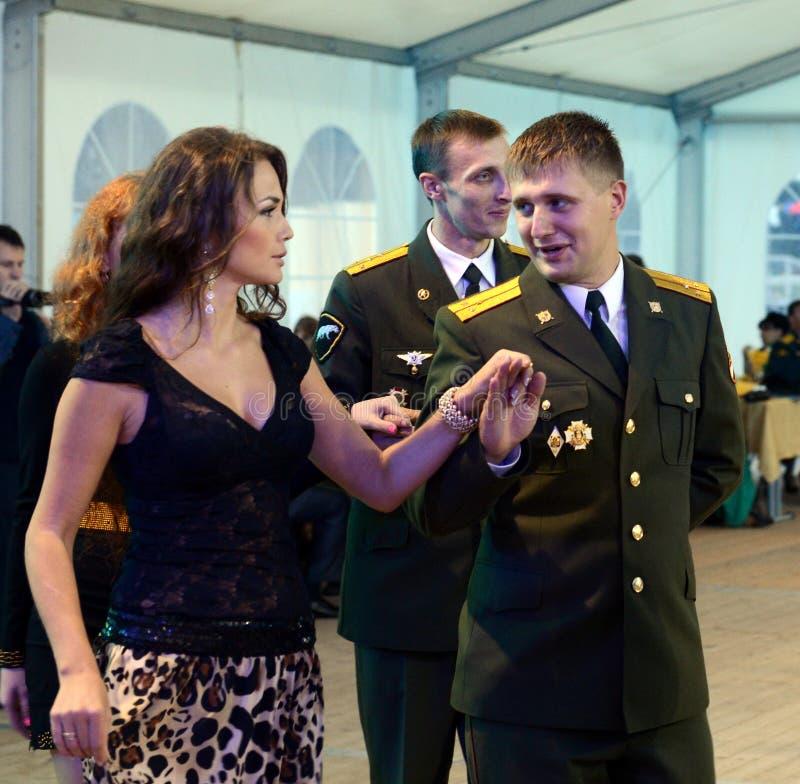 Dowodzi ` s piłkę w Rosyjskiej jednostce wojskowej zdjęcie royalty free