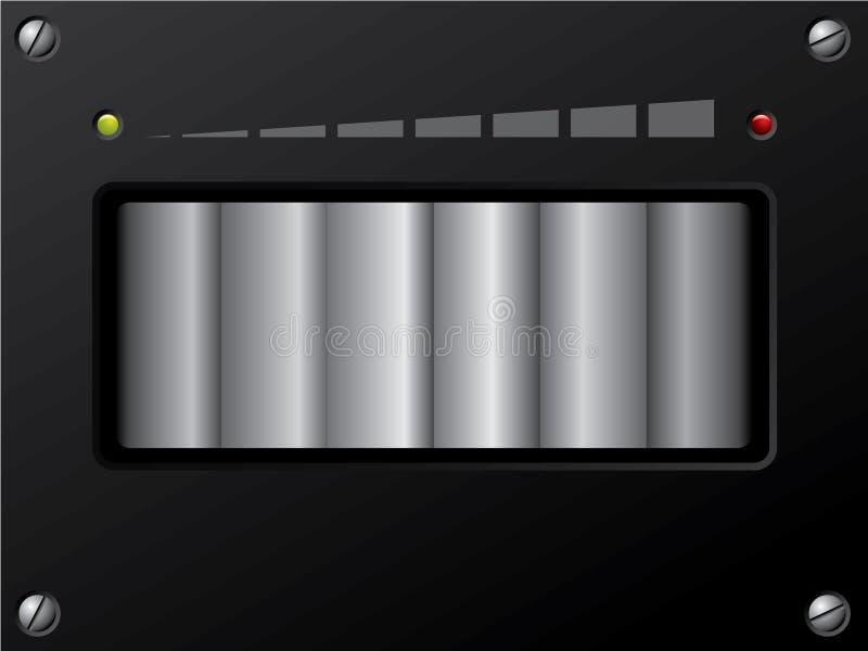 dowodzona kontrola pojemność ilustracja wektor