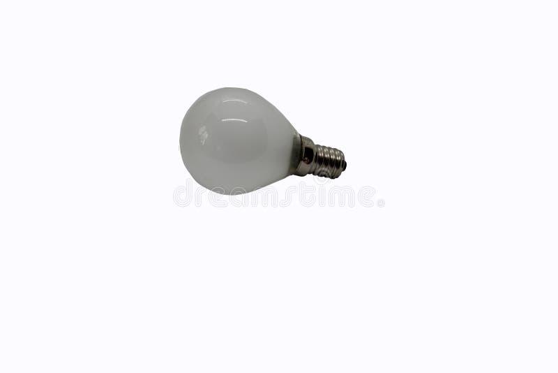 DOWODZONA lampa z małą bazą na białym tle fotografia stock