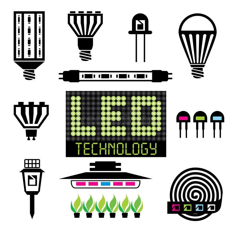 DOWODZONE oświetleniowe ikony ilustracji
