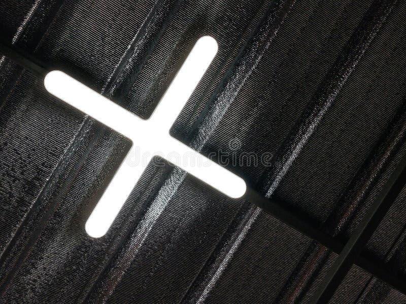 DOWODZONY oświetlenie w abecadło kształta instalacji na suficie w domu X fotografia royalty free