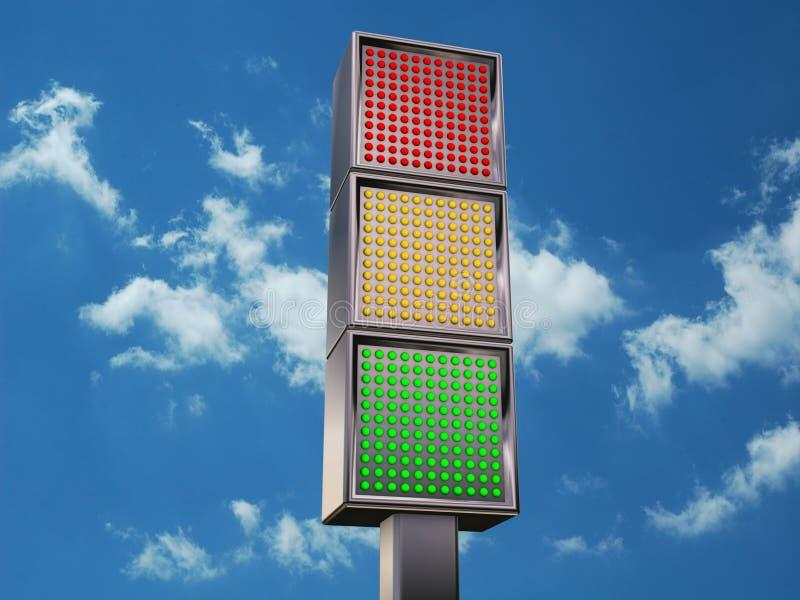 dowodzony semafor obrazy royalty free