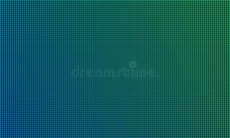 DOWODZONY TV parawanowy monitor z diody światła tekstury tłem Wektorowej wideo ściany tv cyfrowy dowodzony pokaz z gradientowym k ilustracji