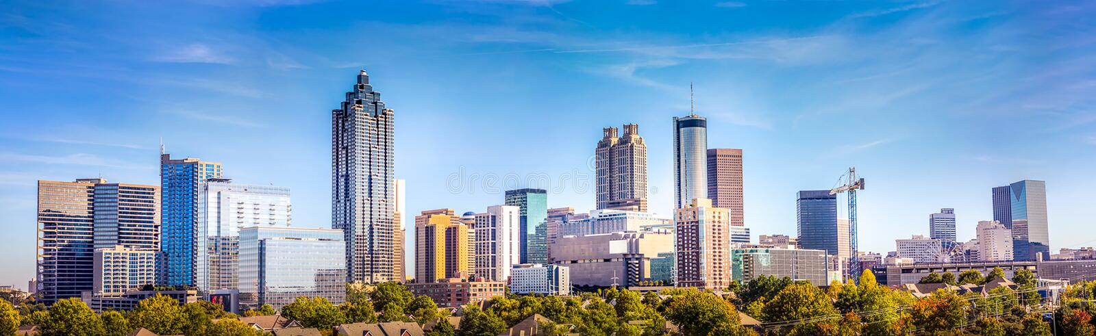 Dowtown Atlanta Georgia Skyline arkivfoto