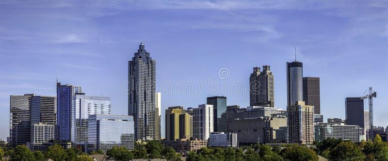 Dowtown Atlanta Gruzja linia horyzontu fotografia stock