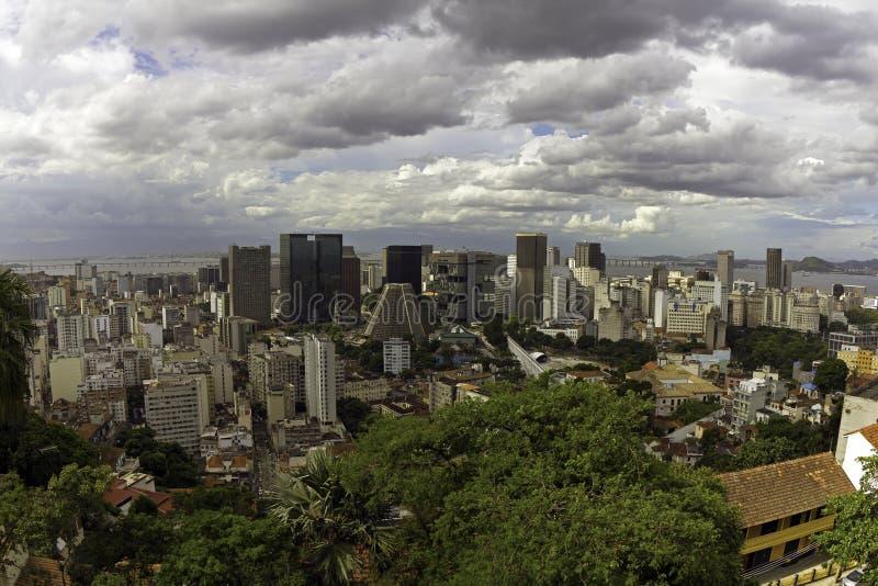Dowtown of Rio de Janeiro. View of Downtown Business Center in Rio de Janeiro royalty free stock image