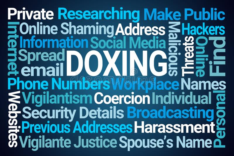 Doxing Word Cloud stock illustration