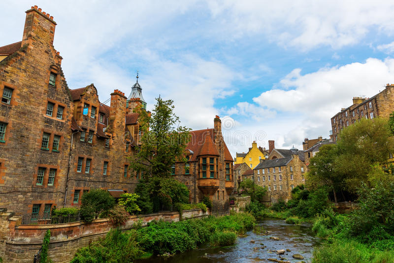 Doyen Village à Edimbourg, Ecosse images libres de droits