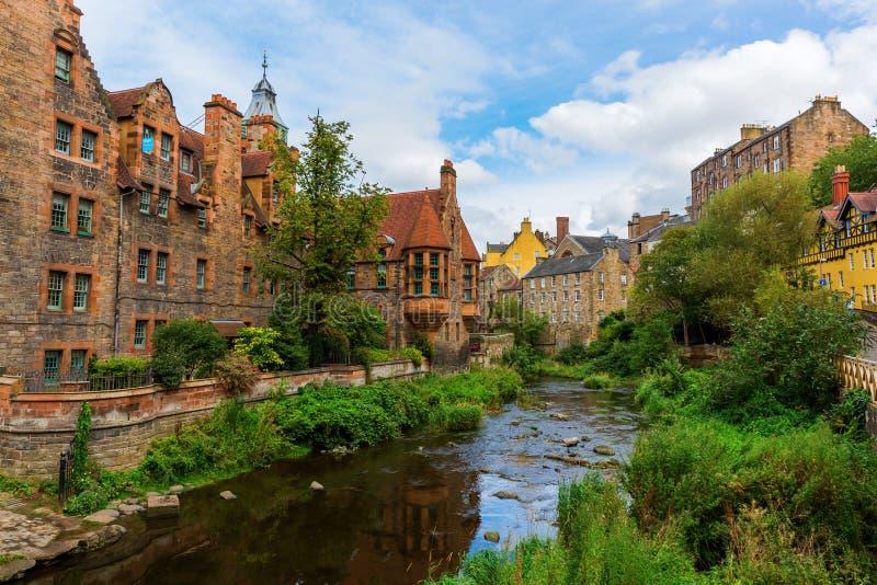 Doyen Village à Edimbourg, Ecosse photographie stock libre de droits