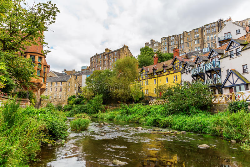 Doyen Village à Edimbourg, Ecosse photos libres de droits
