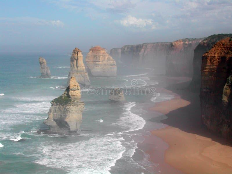 Doze apóstolos Austrália imagens de stock