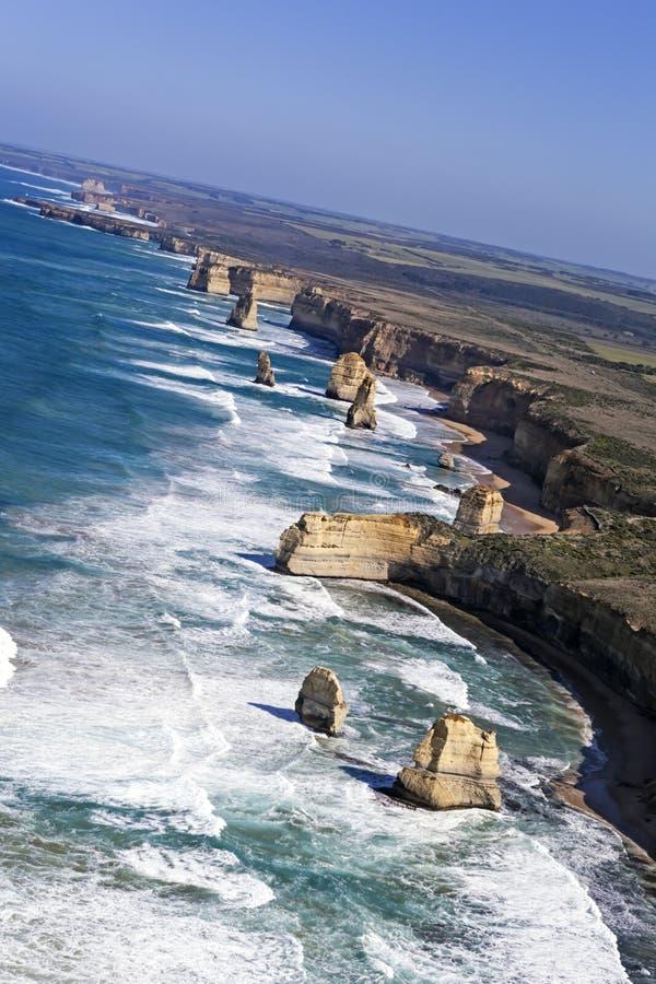 Doze apóstolos Austrália do ar fotos de stock royalty free