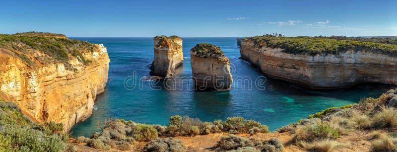 Doze apóstolos, Campbell portuário, Victoria, grande oceano estrada de Austrália, Victoria, Austrália imagem de stock
