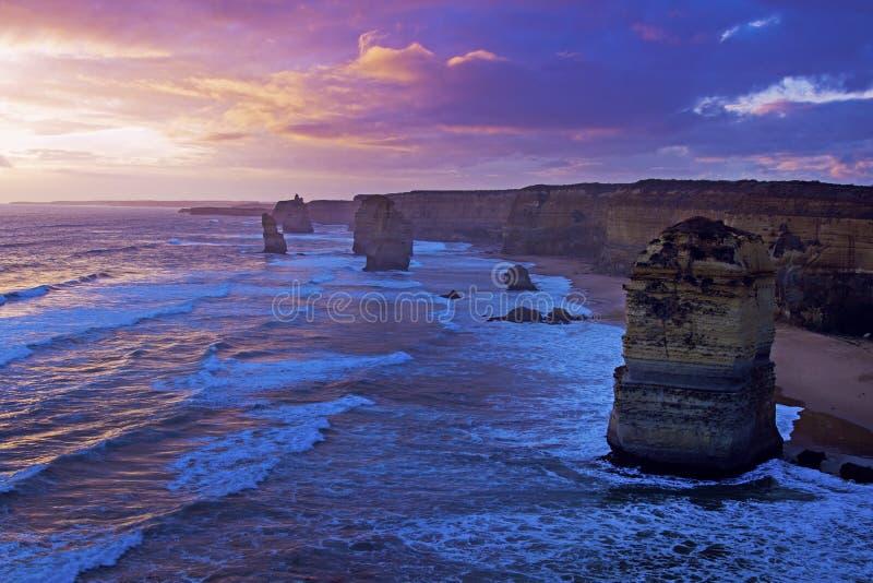 Doze apóstolos em Austrália foto de stock royalty free