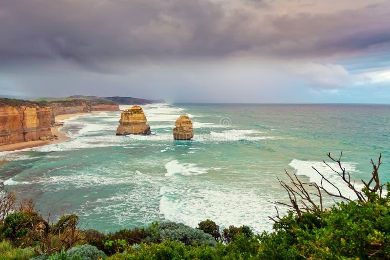 Doze apóstolos em Austrália imagem de stock