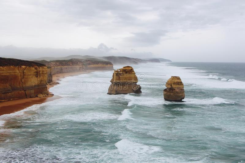 Doze apóstolos em Misty Weather East imagem de stock
