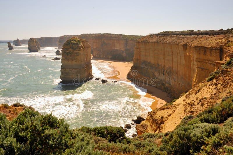 Doze apóstolos na grande estrada do oceano, Austrália imagens de stock