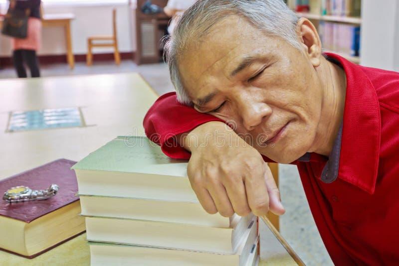 Doze reader stock photo