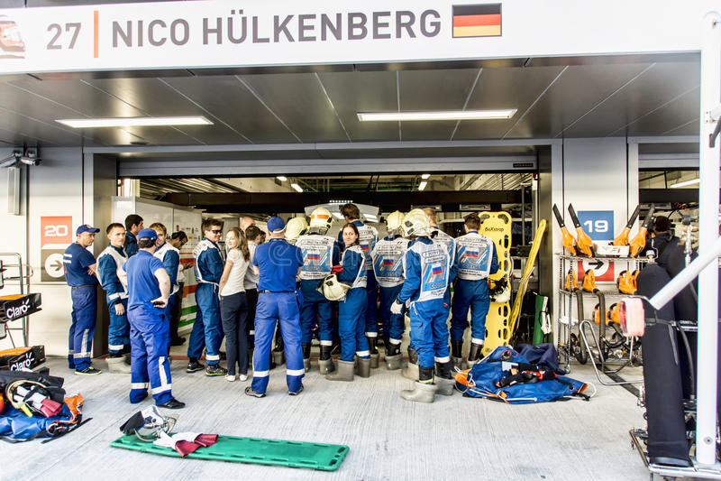 In In dozen doend Nico Hulkenberg stock foto
