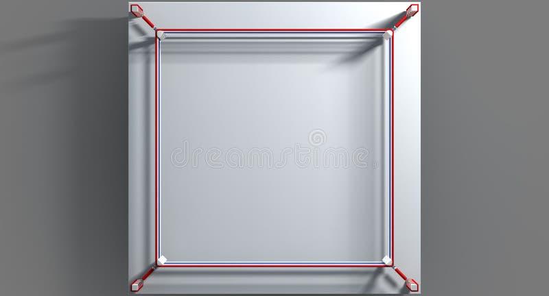 In dozen doend Ring Isolated White stock illustratie