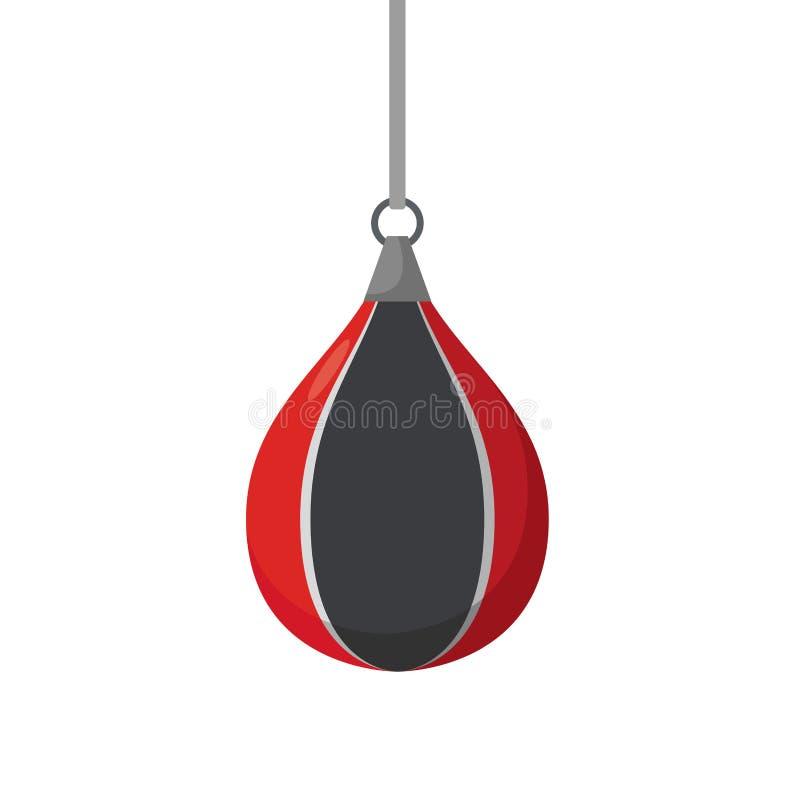 In dozen doende peer Pogingen op sportuitrusting Opleidende bokser vector illustratie