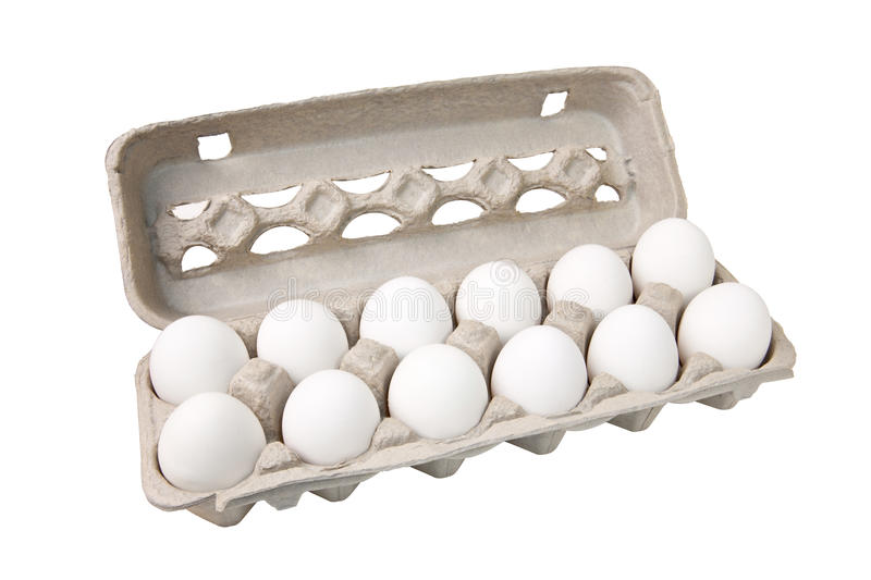 Dozen Eggs stock photo. Image of path, carton, twelve ...