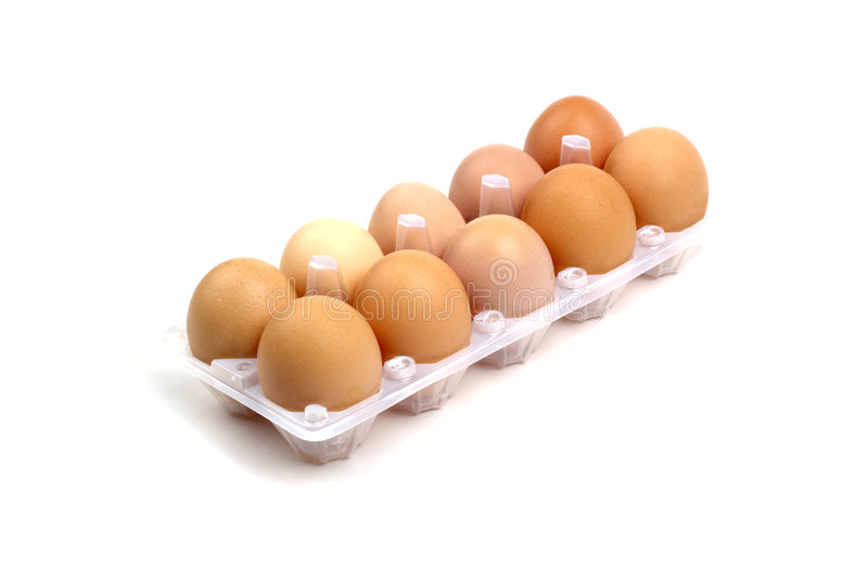 Download Dozen of eggs. stock image. Image of isolated, brown, fragility - 8473715