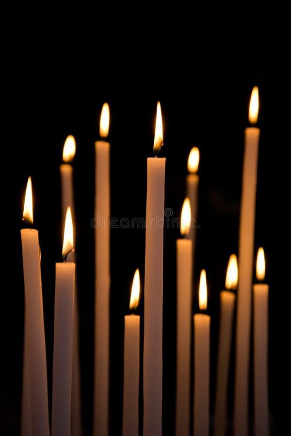 Free Dozen Of Lighten Large Candles Stock Photography - 16319782